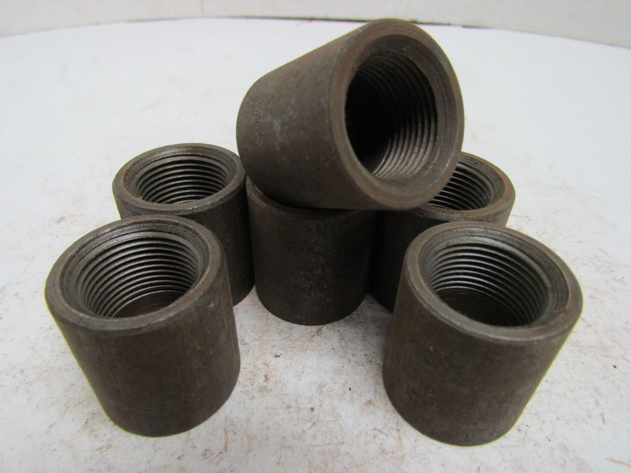 Quot npt black pipe cap class forged steel sch lot