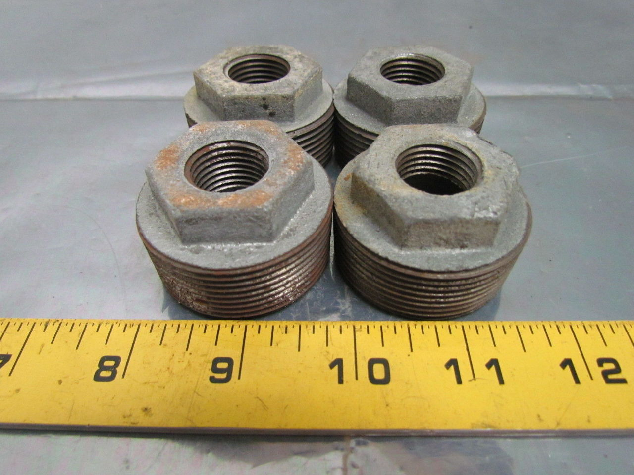 Hex bushing galvanized pipe reducer  quot npt
