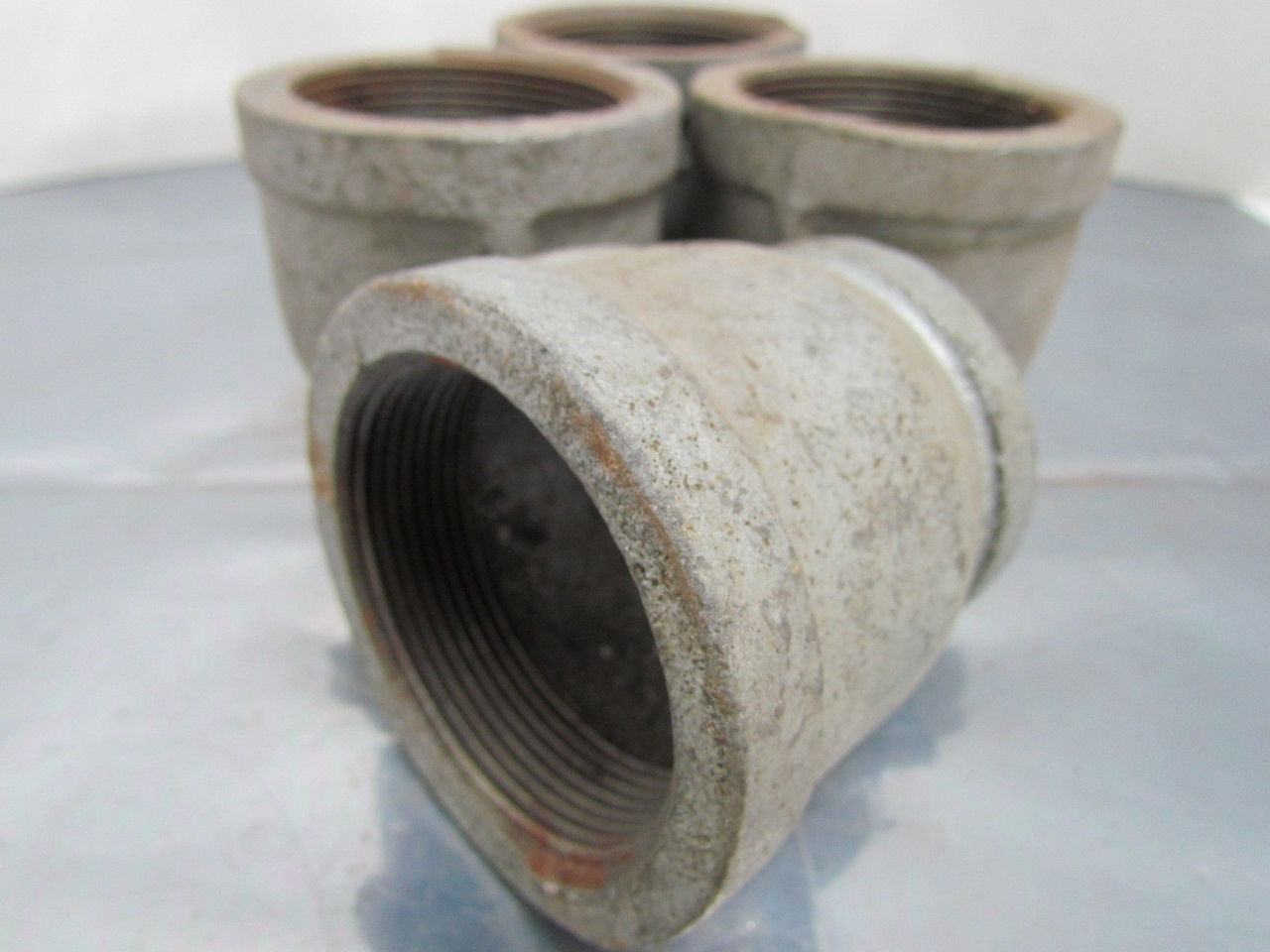 Quot npt malleable iron galvanized pipe reducer class