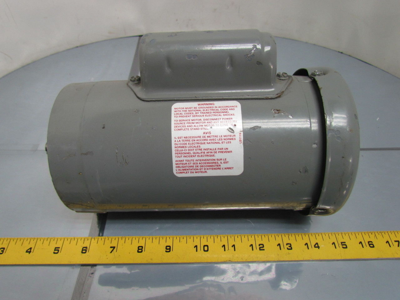 Boston gear 1 3 hp 1725 rpm 115 208 230 volt tefc single for 40 hp 3 phase electric motor