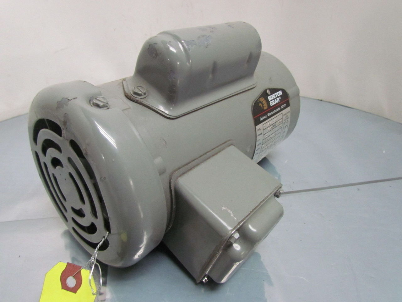 Boston gear 1 3 hp 1725 rpm 115 208 230 volt tefc single for 3 hp single phase electric motor