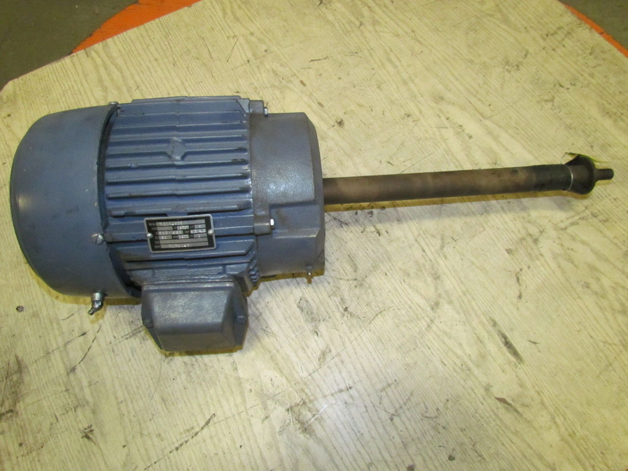 Reliance 3 hp 3500 rpm 230 460v 182ty frame tefc electric for Electric motor shaft repair
