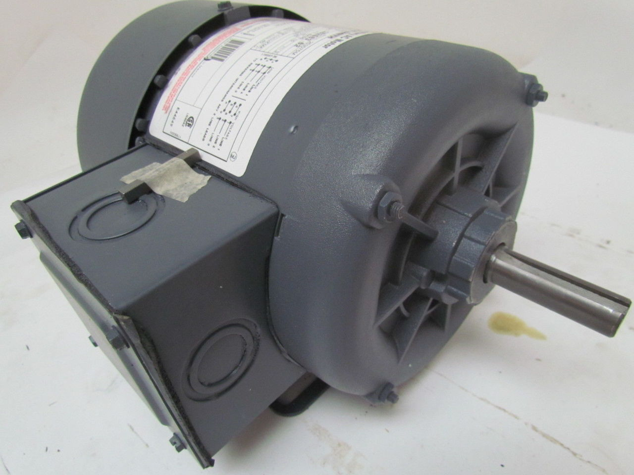 Ao Smith H869 Tefc Electric Motor 3 4 Hp 3ph 1725rpm 200
