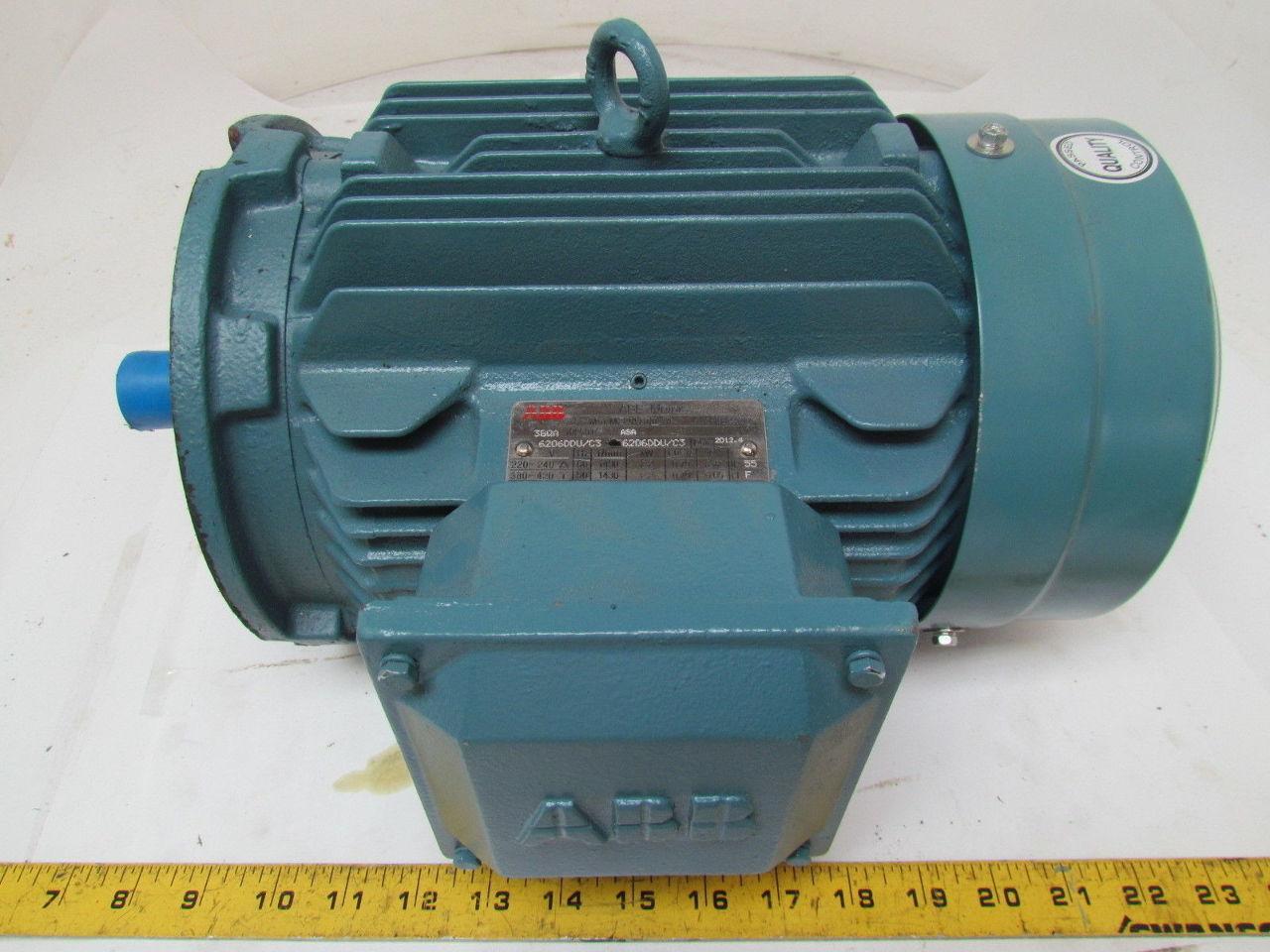 Abb m2qa100l4a 3gqa electric motor 3hp 3ph 1730rpm 240 420 for Abb motor frame size