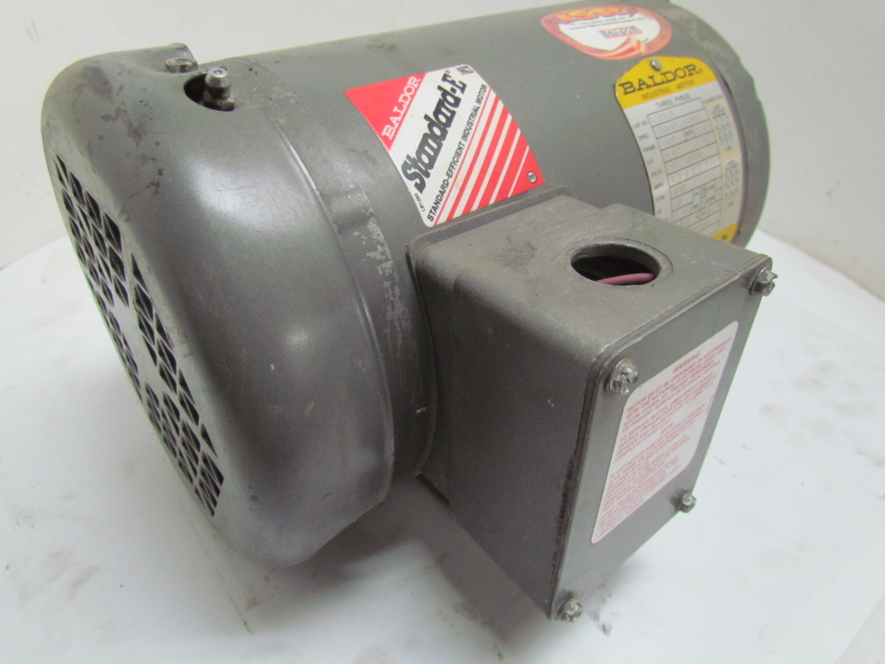 Baldor m3554t 1 1 2 hp 1740 rpm 208 230 460v tefc electric for 1 1 2 hp electric motor