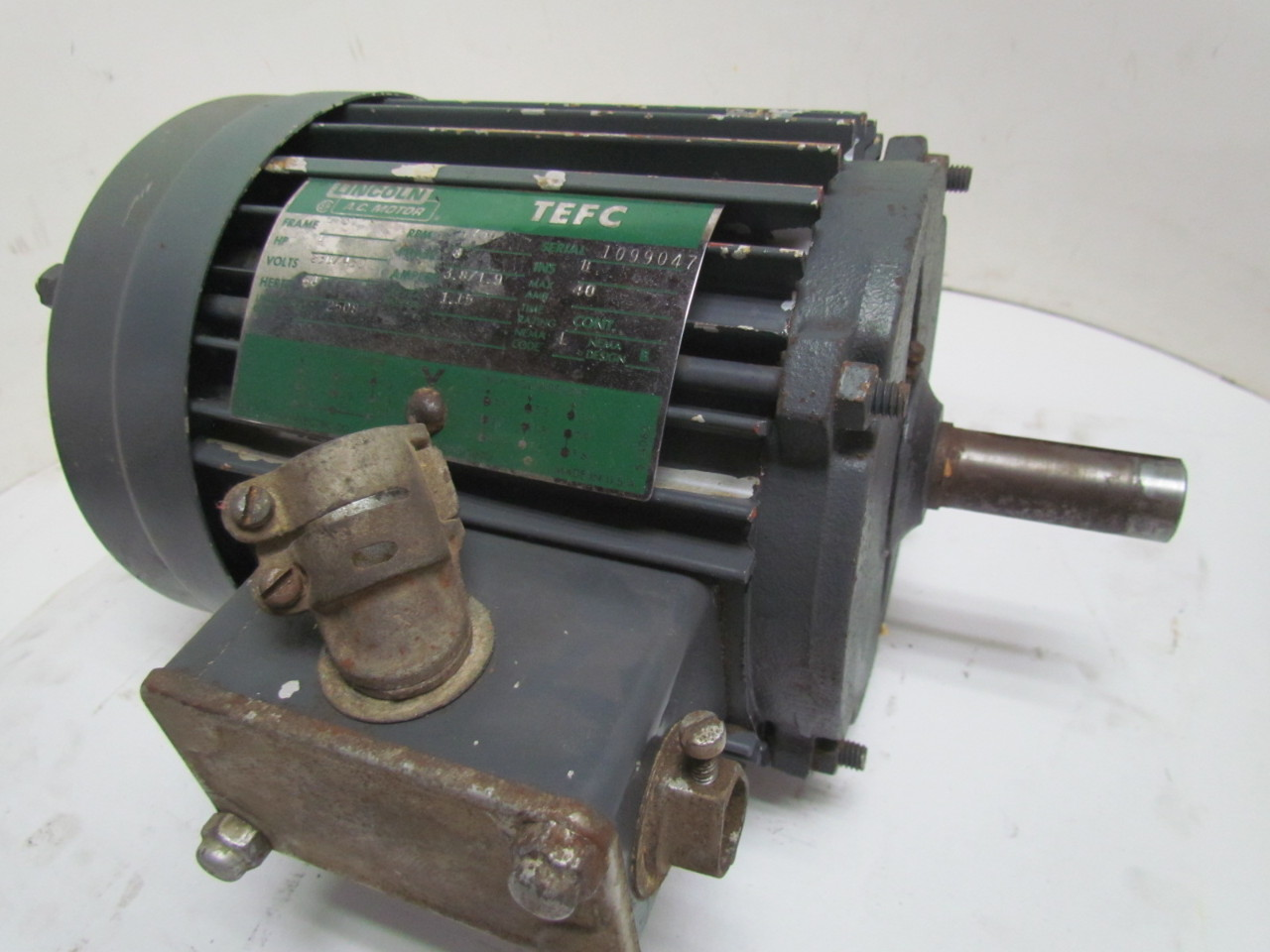 Lincoln T 2508 1 Hp 1740 Rpm 208 230 460v Tefc 3 Phase