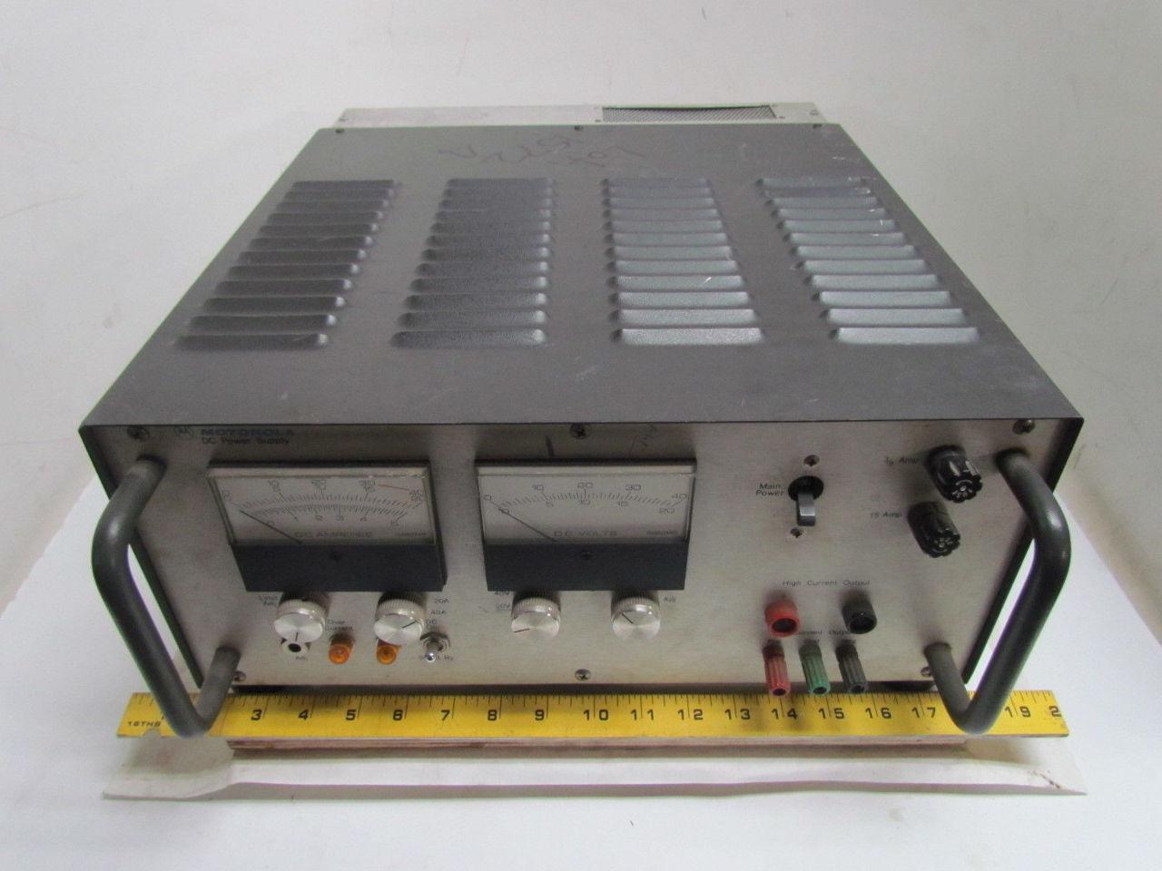 5 Volt Analog Meter : Motorola r aa dual analog meter dc power supply