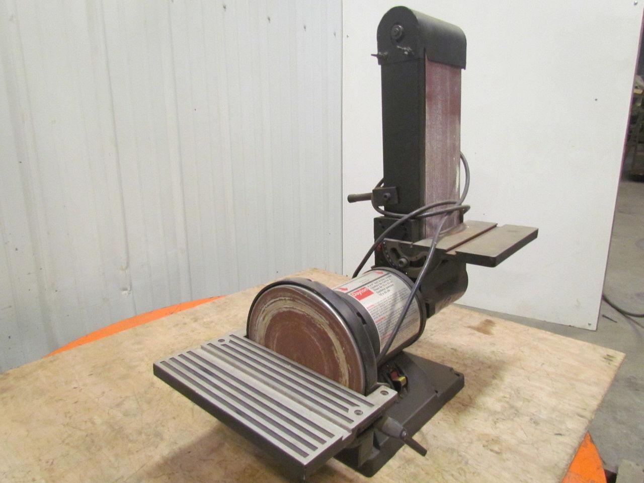 Dayton 6y001 6 belt sander 9 disc sander 3 4 hp 3450 rpm 120v benchtop combo ebay Bench belt sander