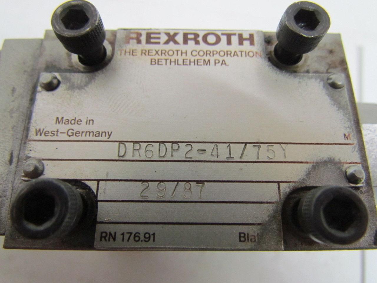 rexroth flow control valve pdf
