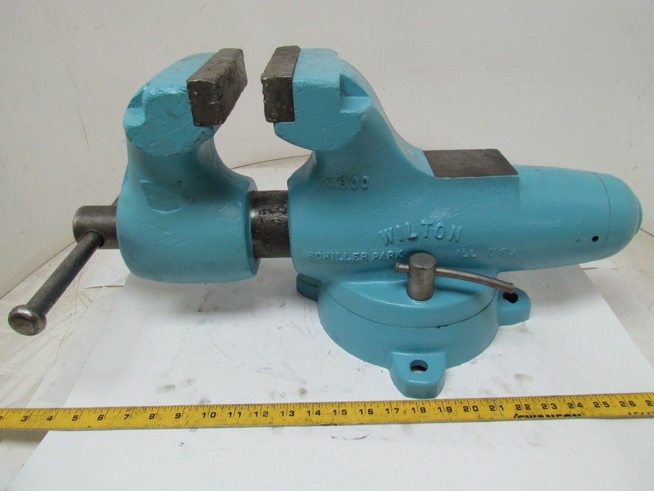 Wilton 600 Swivel Base Bench Mount Bullet Vise 6 Jaws 10 Opening Usa Ebay