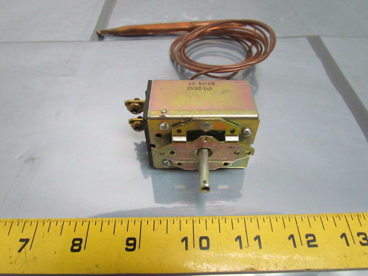 ranco g1 2642 electric thermostat temperature controller w capillary probe ebay