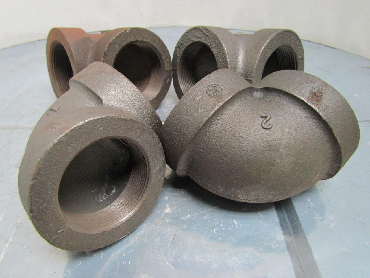Ward quot npt cast iron black pipe deg elbow class lot