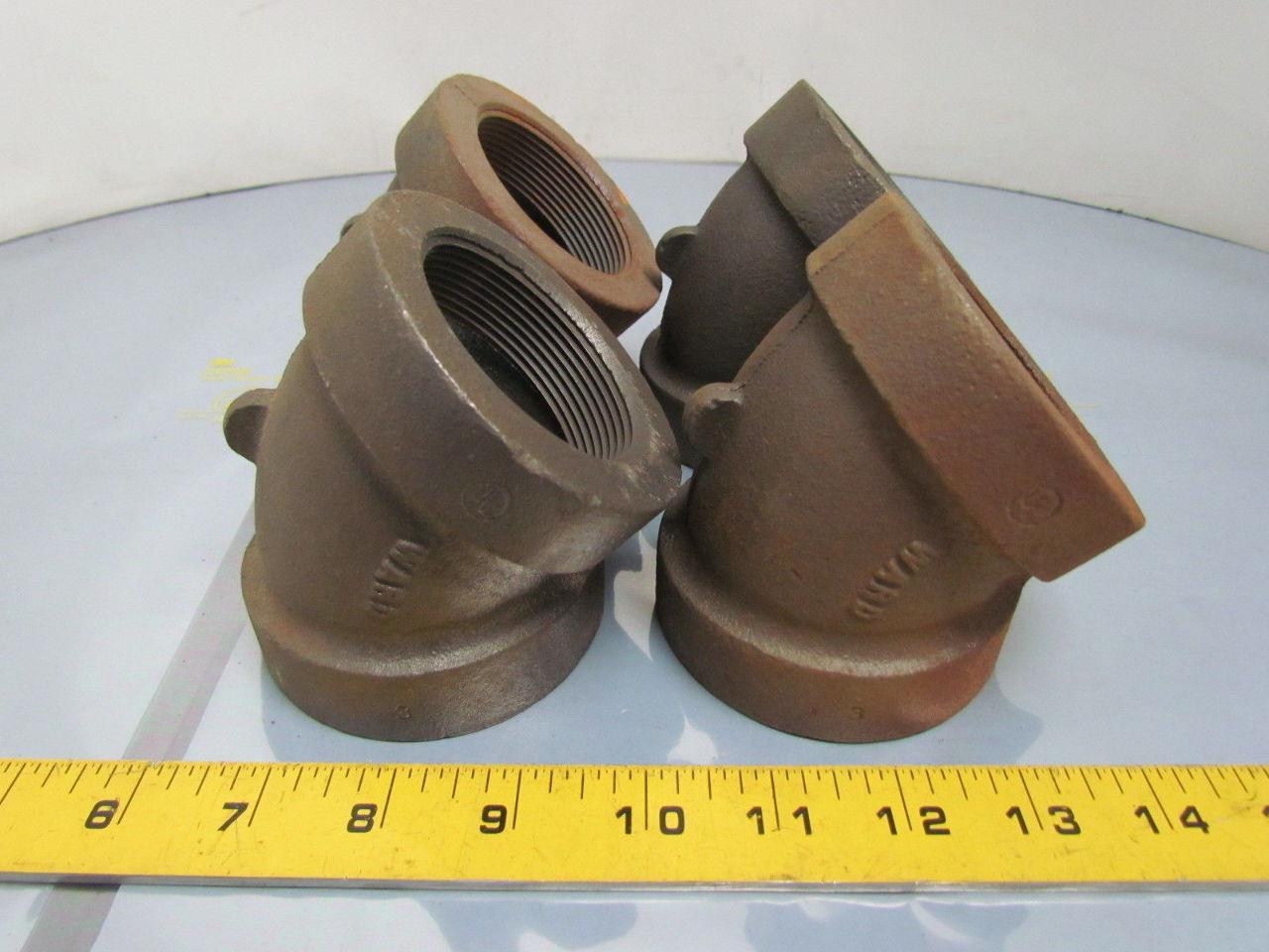 Ward quot npt cast iron black pipe deg elbow class usa