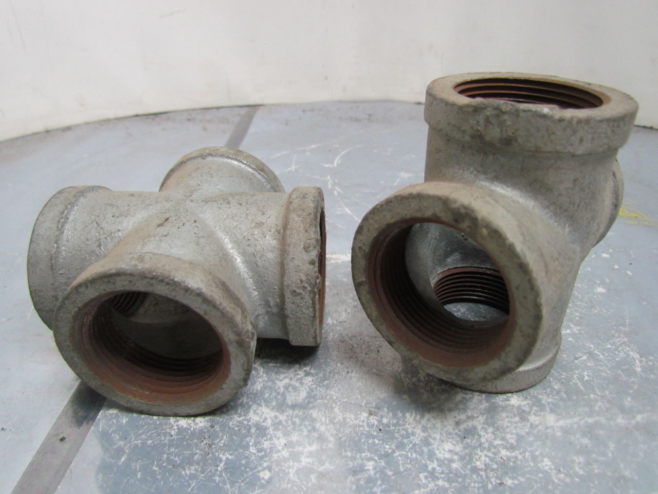 U brand quot npt malleable iron galvanized pipe cross