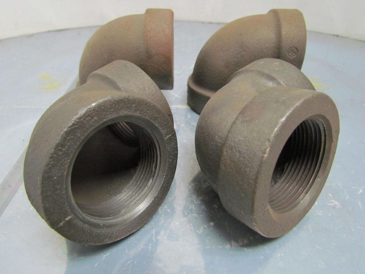 Ward quot npt cast iron black pipe deg reducing elbow