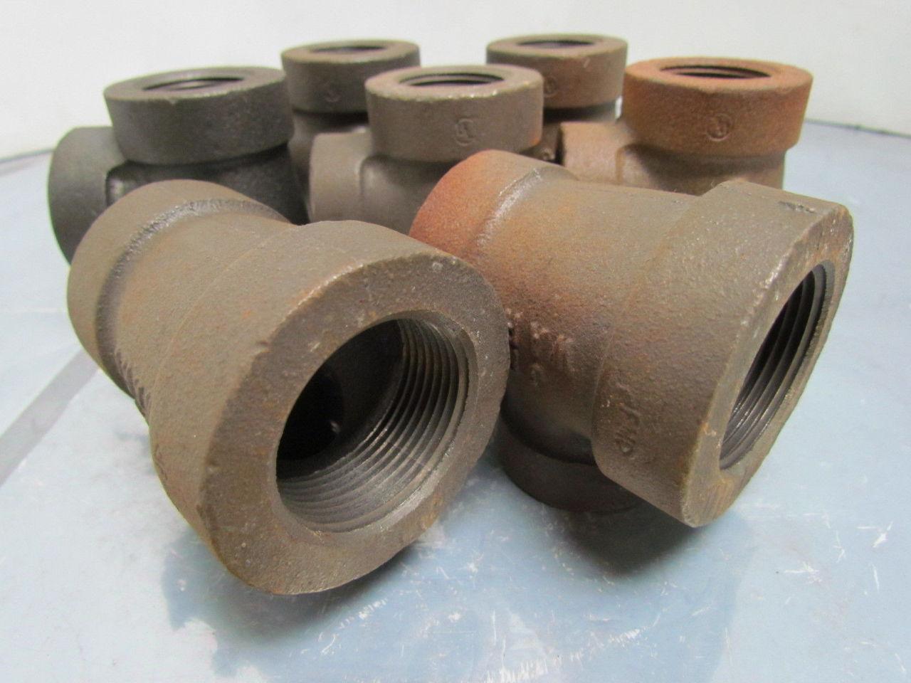 Ward x quot npt cast iron black pipe reducing tee