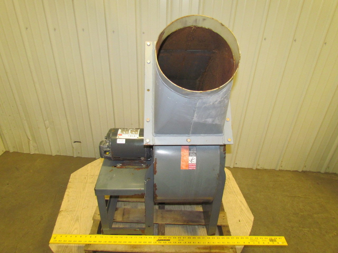 Radial Blade Blowers : Dayton single inlet radial blade direct drive blower hp