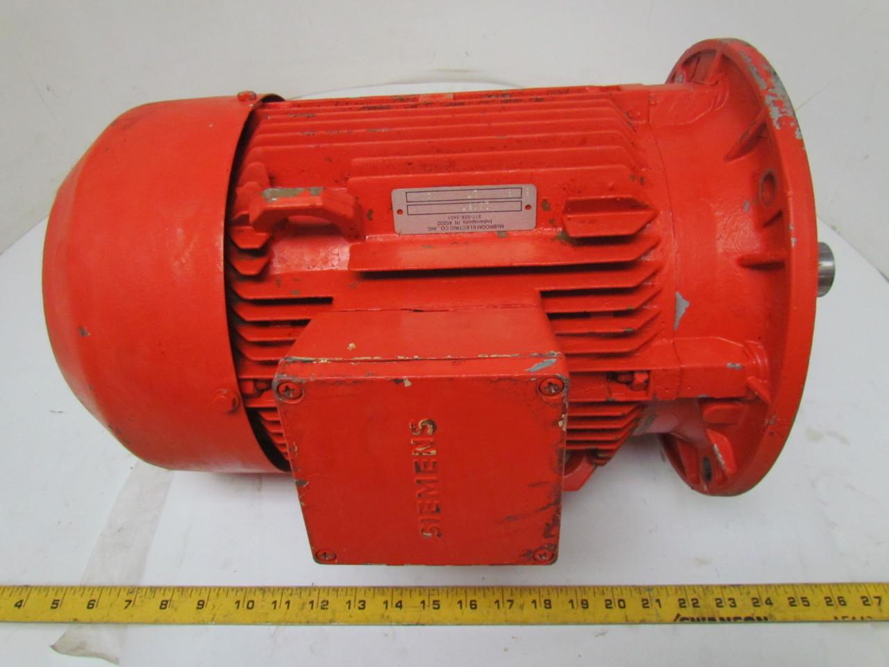 Siemens 6 3 Kw 3ph Electric Motor Tefc 1155 Rpm
