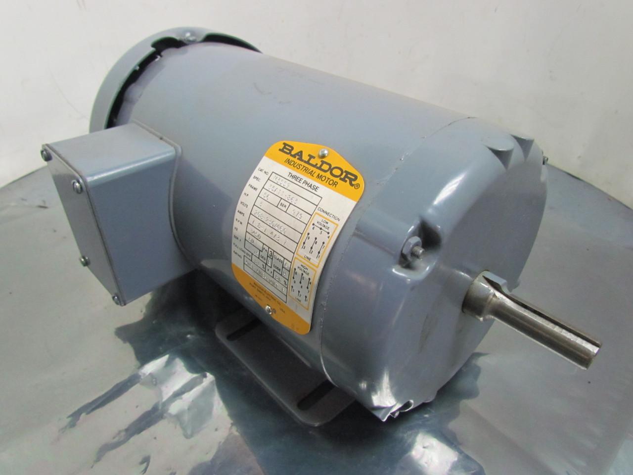 Baldor M3559 Rebuilt 3 Hp 3450 Rpm 208 230 460v 3ph 56