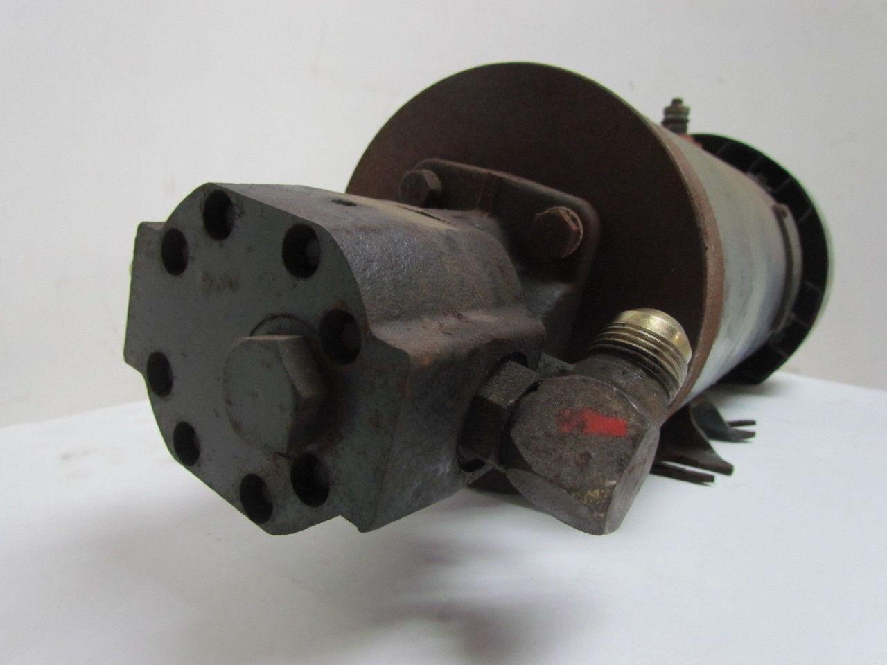 General electric pump d c motor hydraulic pump combo 1hp for Hydraulic pump and motor combination
