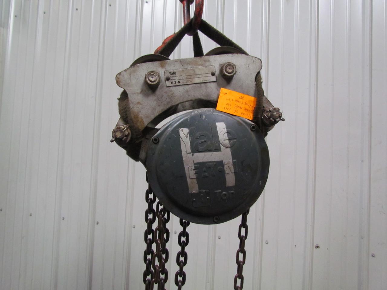yale 1 ton manual chain hoist