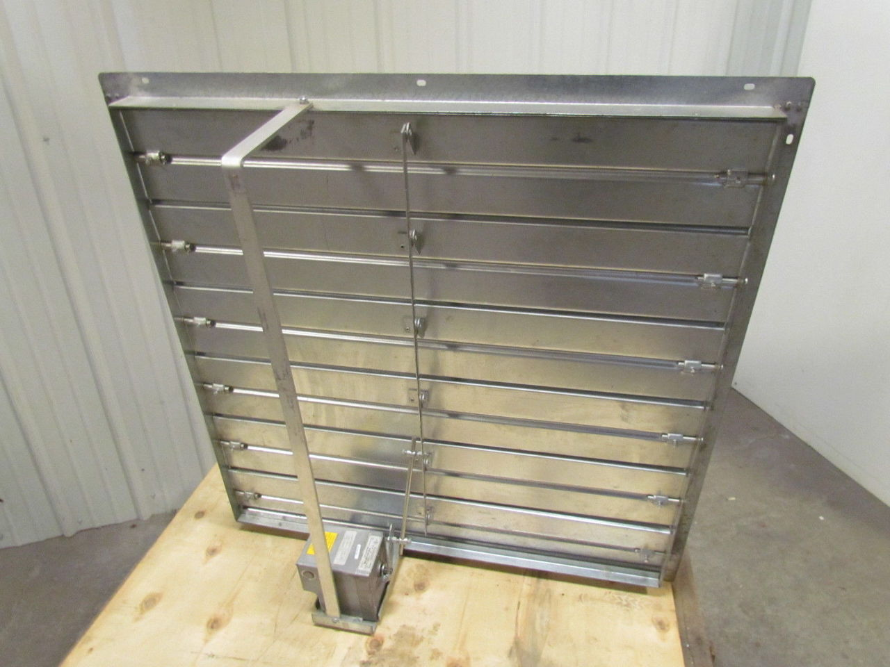 36 X36 Galvanized Steel Motorized Damper 120 240v 1ph Power Louvered Vent Ebay
