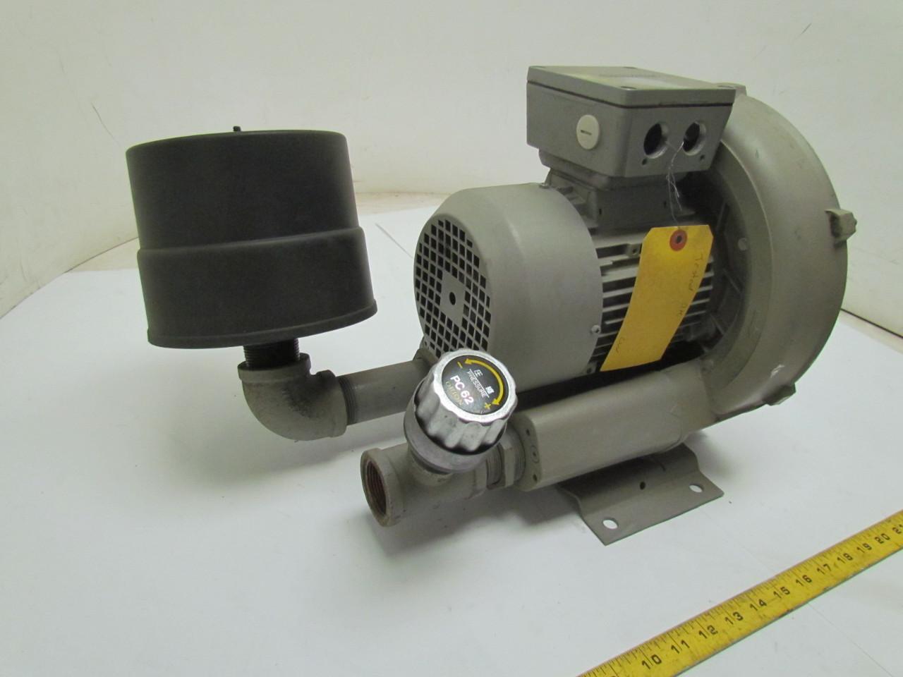 Vacuum/Compressor Single Stage w/Pressure Blower Kit 1.47HP 3Ph eBay #A59526