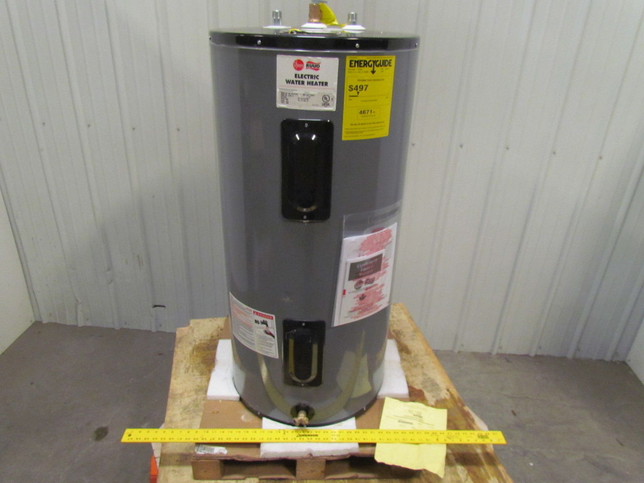 b19e13 rheem eld40 b commercial electric water heater 240v 3ph 40 brand new 20