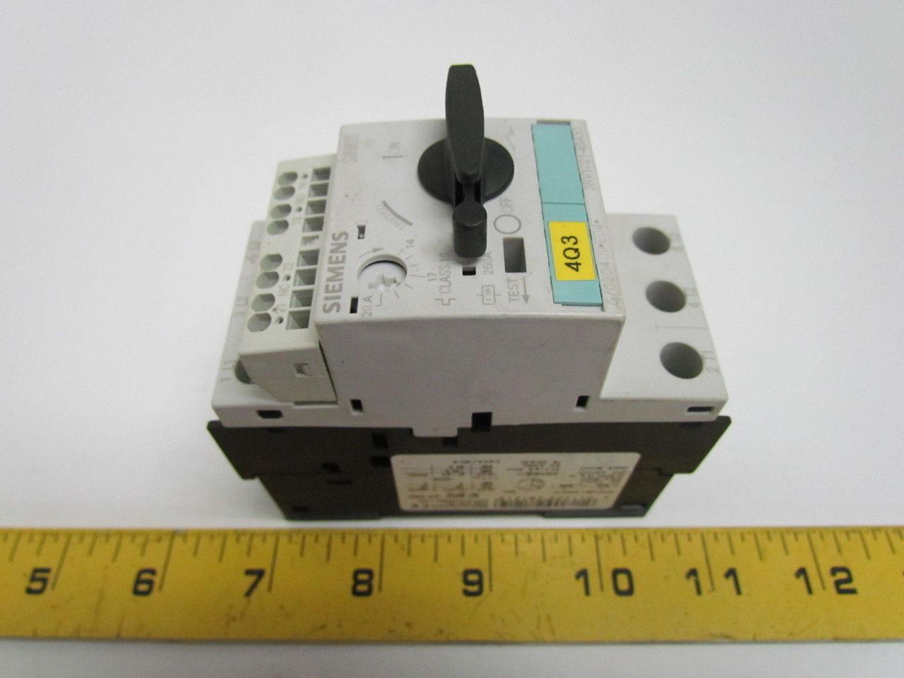 Circuit Breaker 14 20a N Release 260a Size So Motor Protection Class 10 3 Pole Ebay