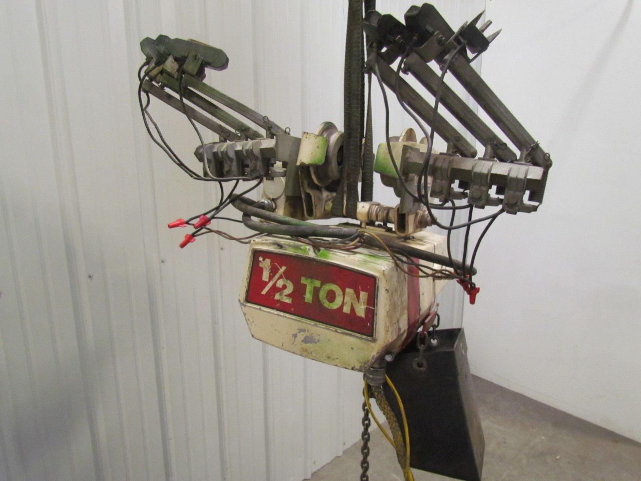 Coffing 1 2 Ton Electric Chain Hoist W Motorized Trolley