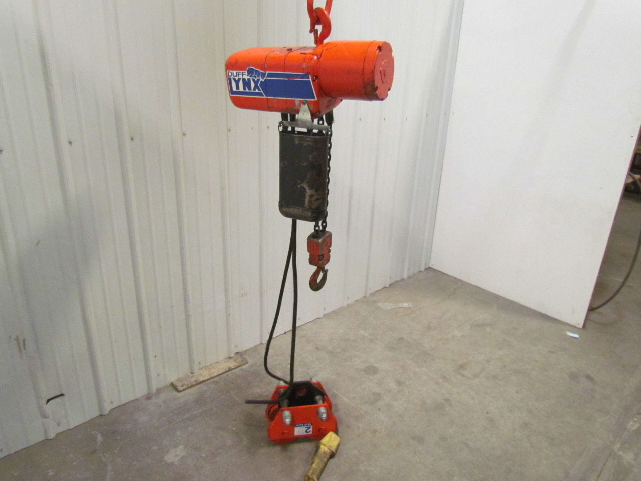Duff lynx coffing elc4008 2 ton 3 ph electric chain hoist for 2 ton hoist with motorized trolley