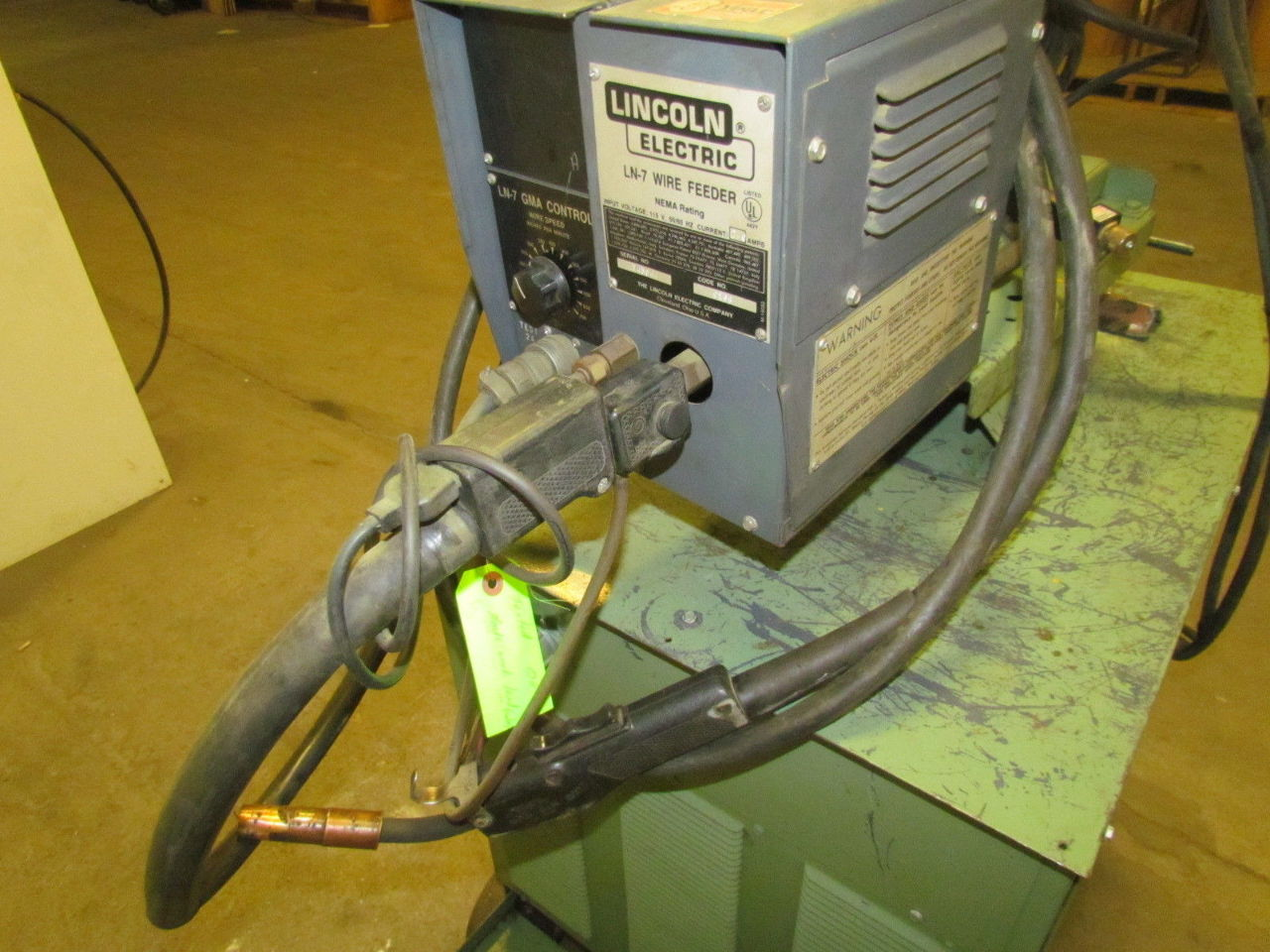 400 amp 3ph dc wire feed welder w cart cables feeder gun for Lincoln welder wire feed motor