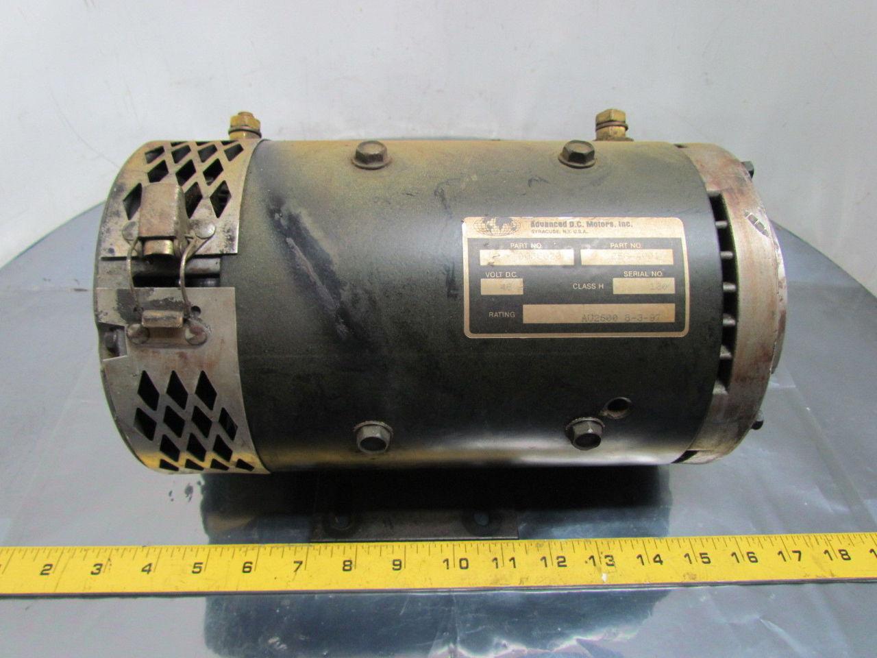 Advanced Dc Cf6 4001 0033020 Dc Motor 48vdc Class H Rating