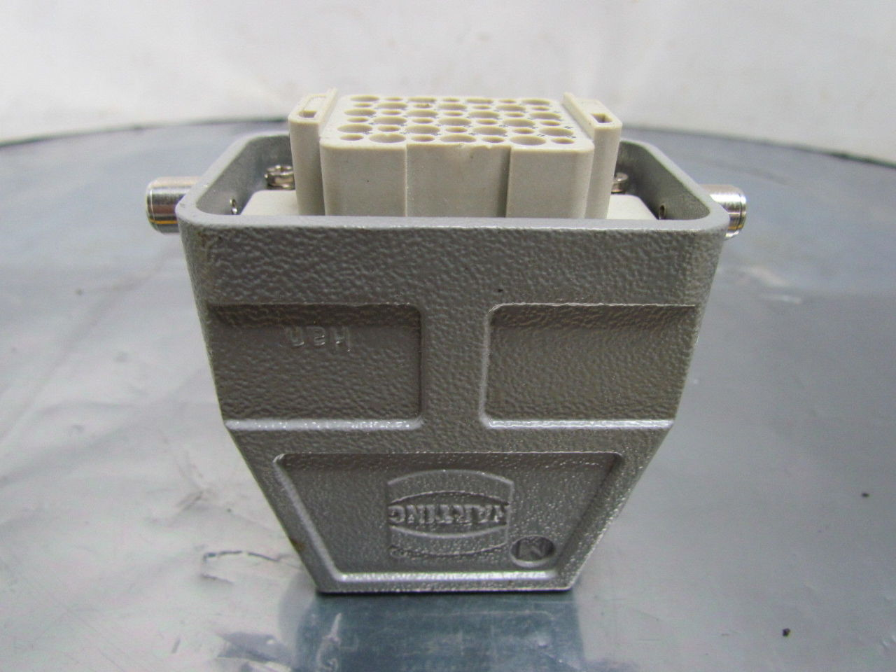 harting pc gf20 20 pin female connector plug aluminum hood home fuse box melting home fuse box labeling #9