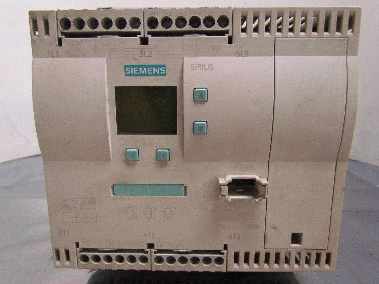 Siemens 3rw4422 1bc34 Ac Semiconductor Motor Soft Starter