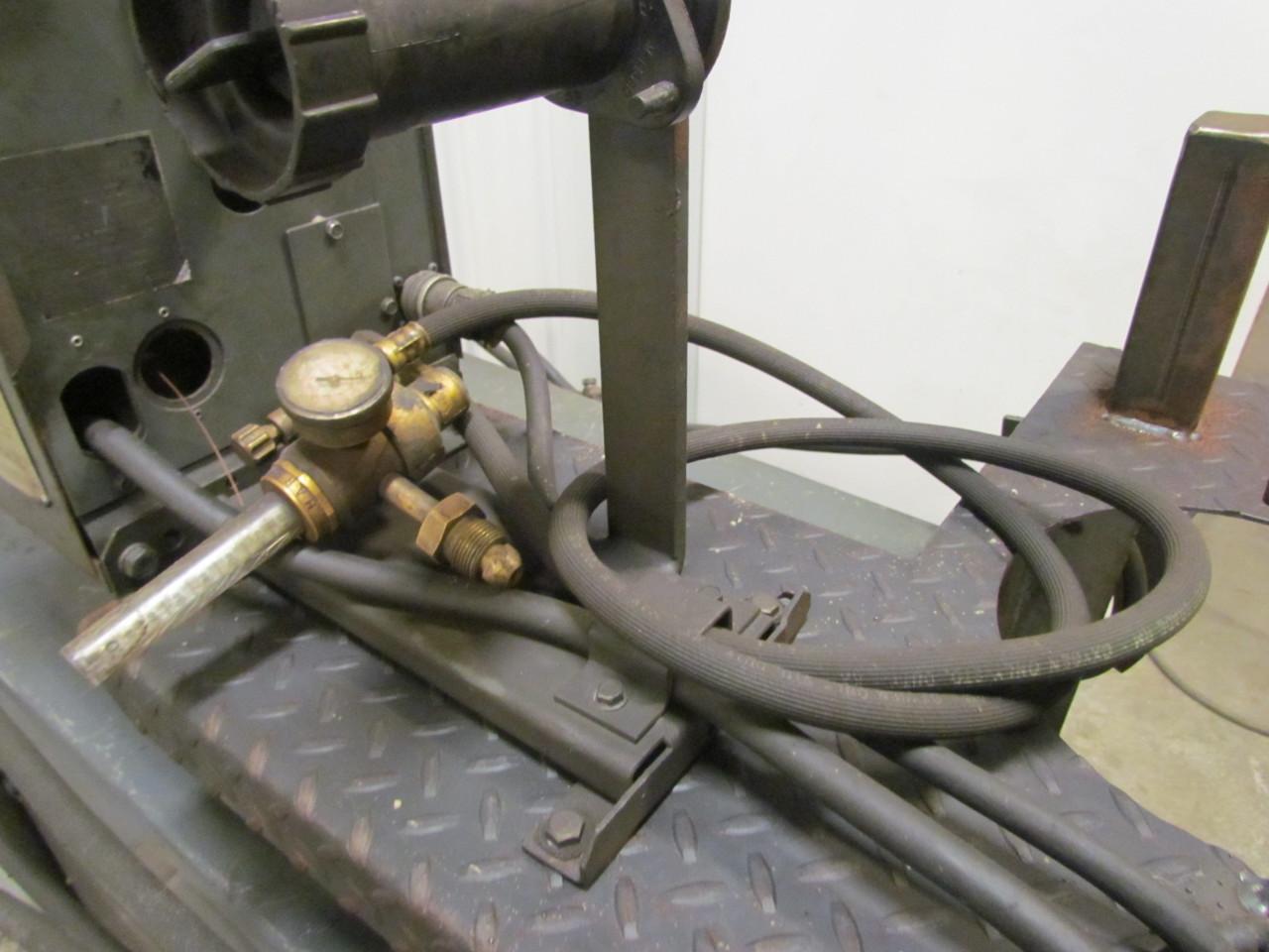 Lincoln idealarc 400 amp dc welder w wire feeder gun cart for Lincoln welder wire feed motor