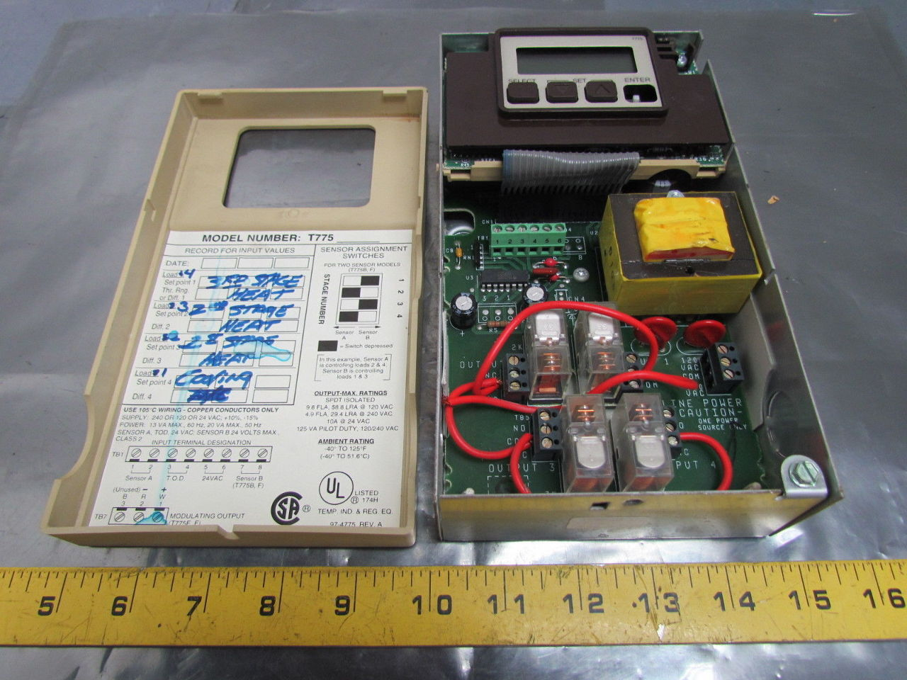 honeywell t775a1035 electronic remote temperature controller 4 spdt rh inttorg ru honeywell t775 manual operation honeywell t775 series 2000 manual