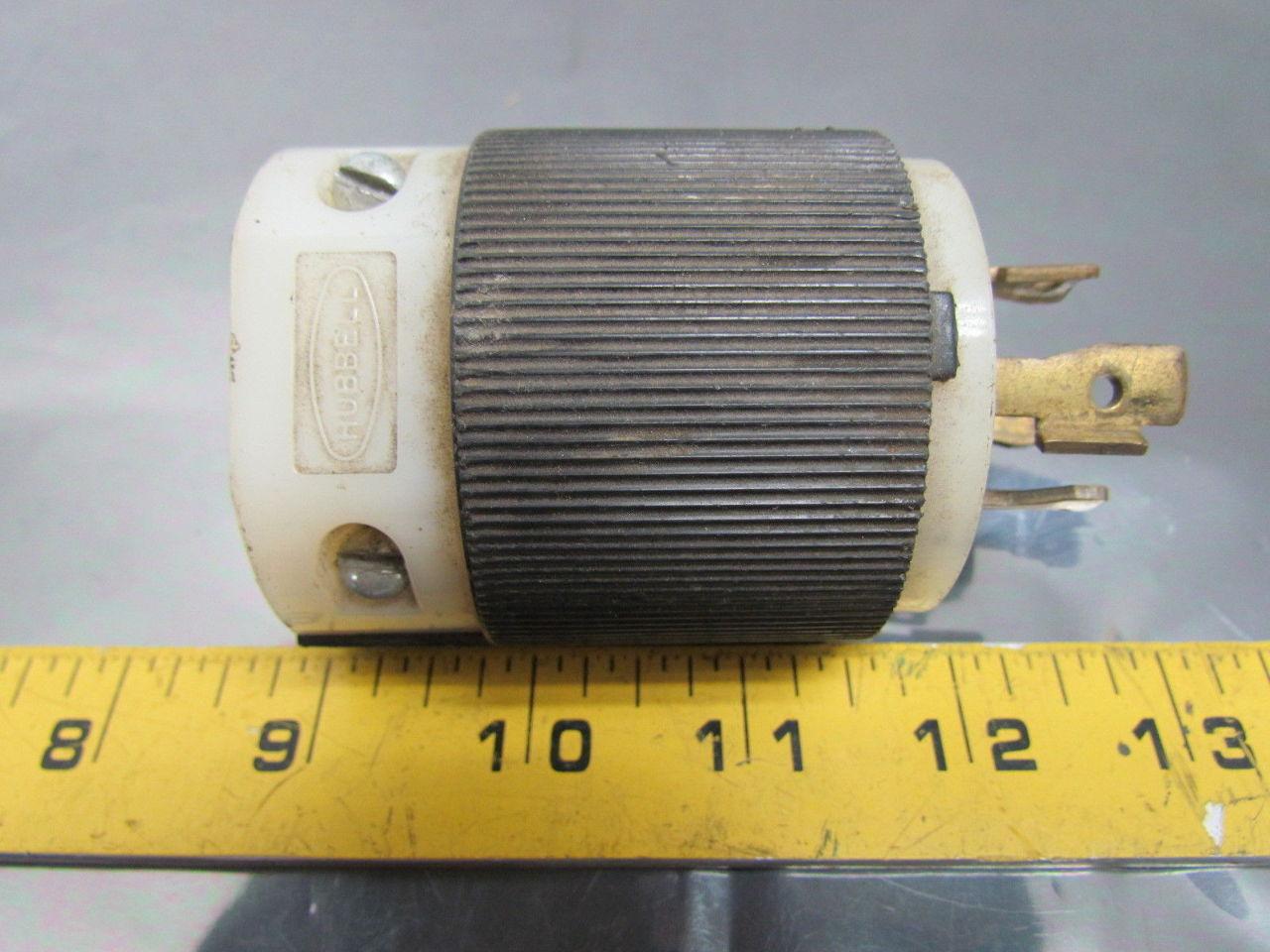 hubbell 231a 30a 600vac 3 pole 4 wire nema l17 30 twist lock connector 3ph ebay