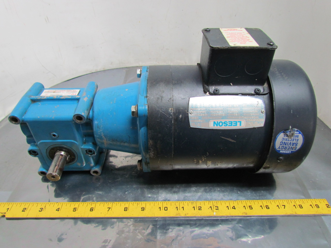 Leeson electric hp ph c motor w morse ged