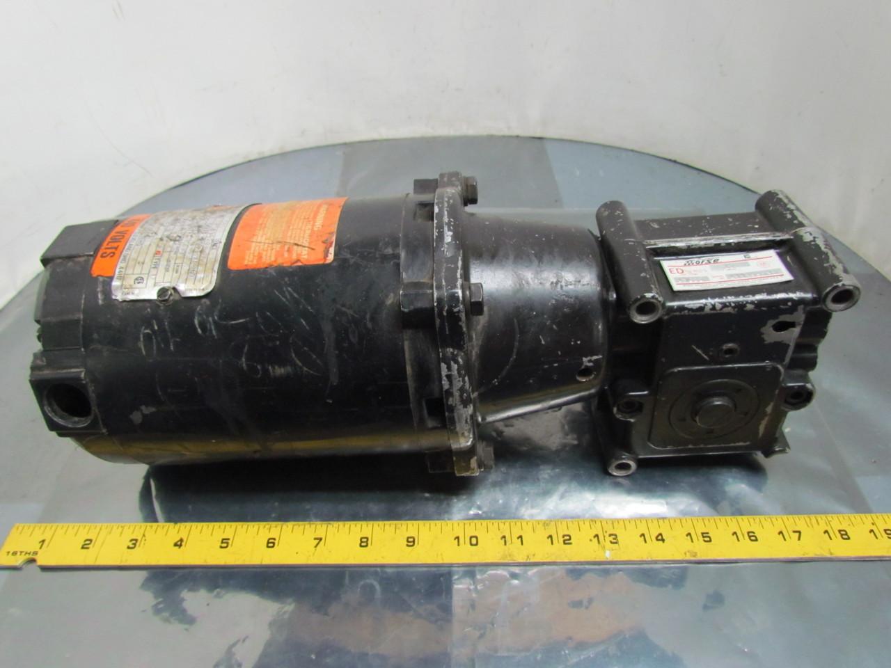 Reliance Electric 1 4 Hp 3ph 56c Motor W Morse 15ged 10 1