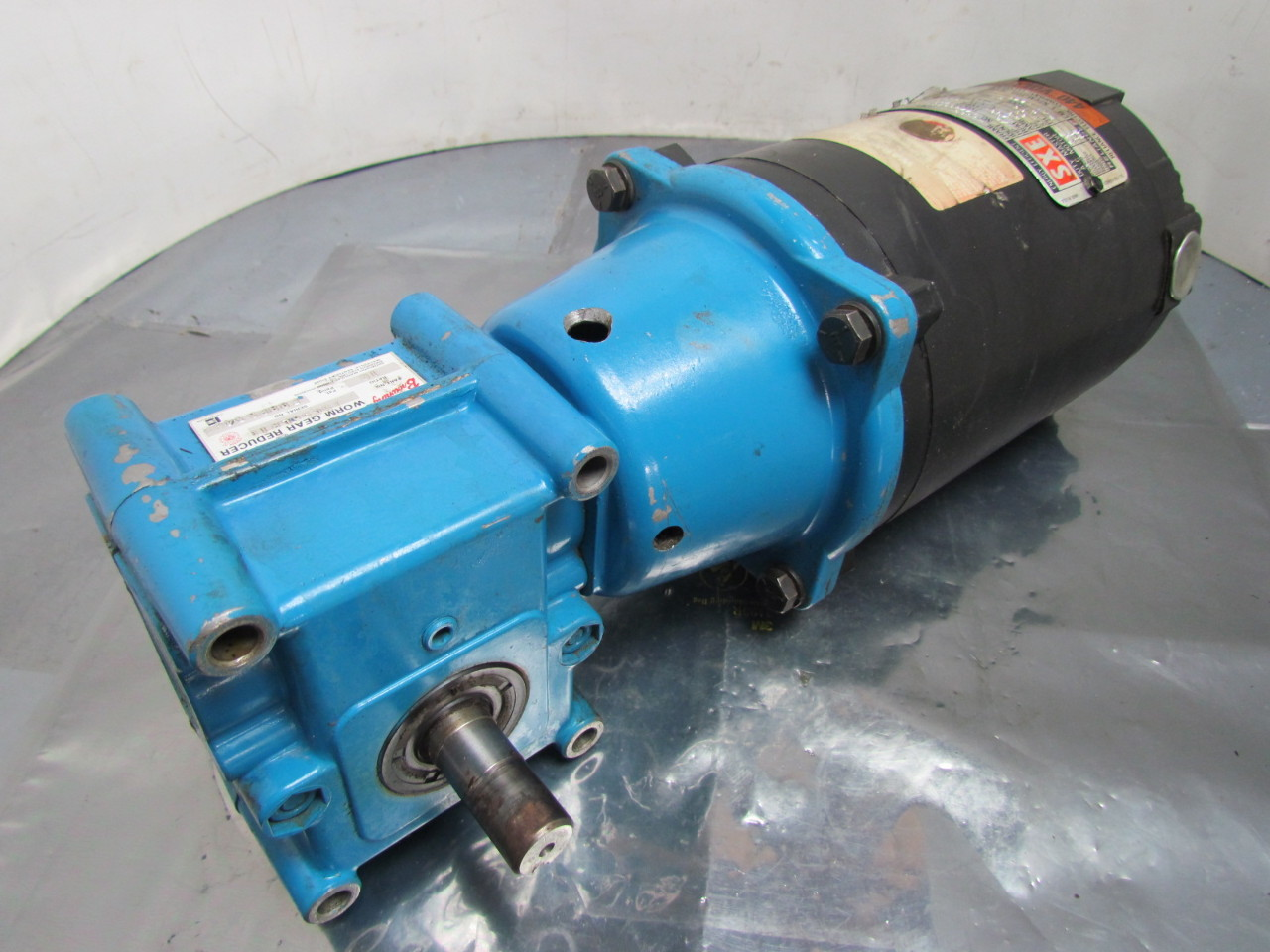 Reliance electric 1 4 hp 3ph 56c motor w browning 10 1 for How to reduce motor speed