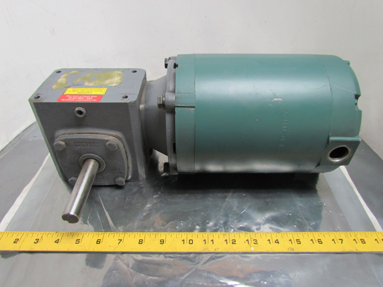 Reliance electric 3 4 hp 3ph 56c motor w boston 5 1 speed for 1 4 hp gear reduction motor