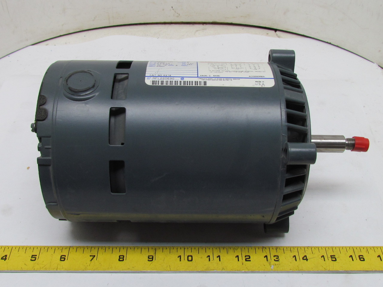 General Electric 5k37mn38 K219 Motor 3 4hp 3450 Rpm 3ph