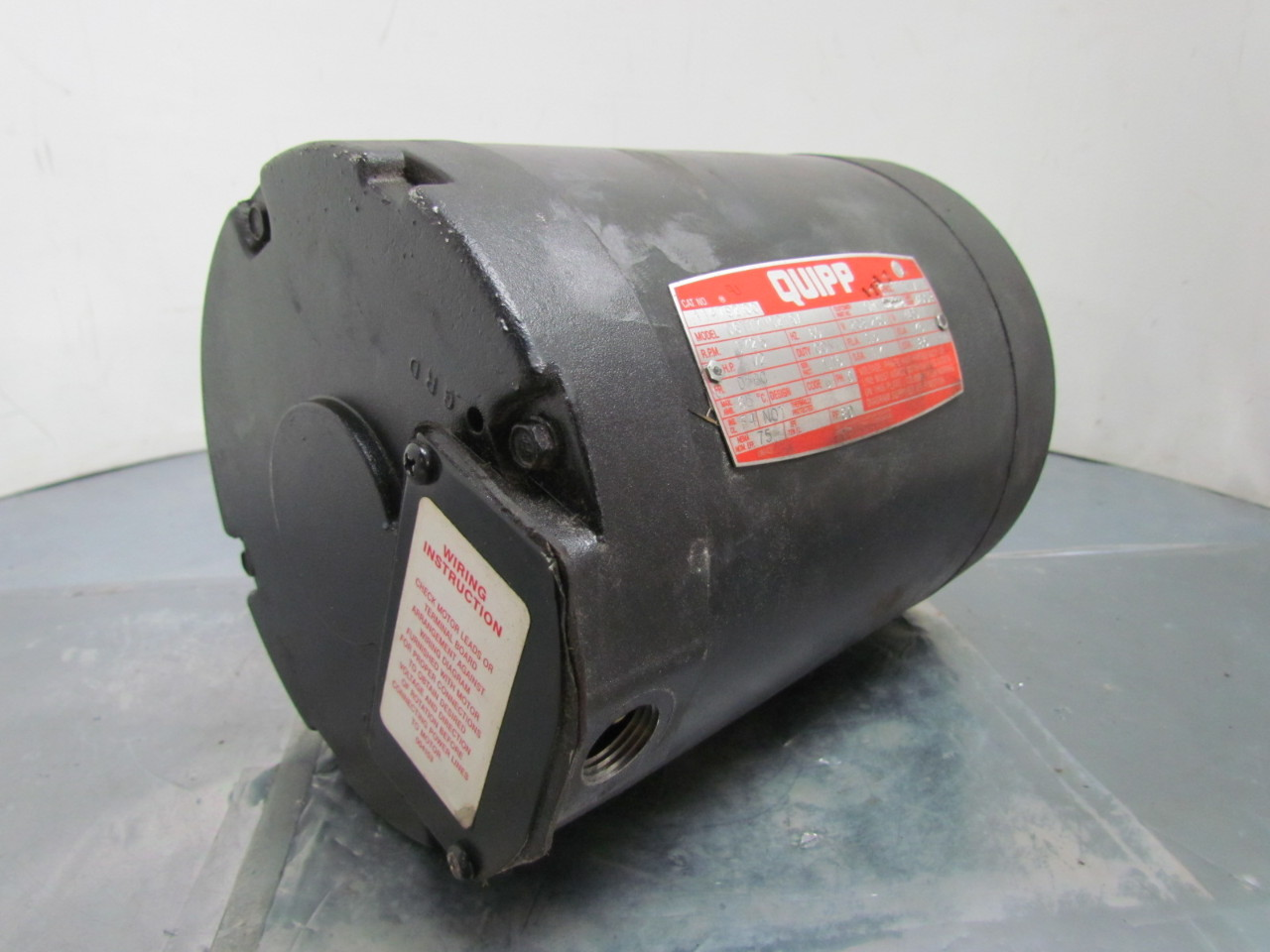 Leeson quipp electric motor 1 2 hp 3ph 1725rpm 56c frame for 1 1 2 hp electric motor