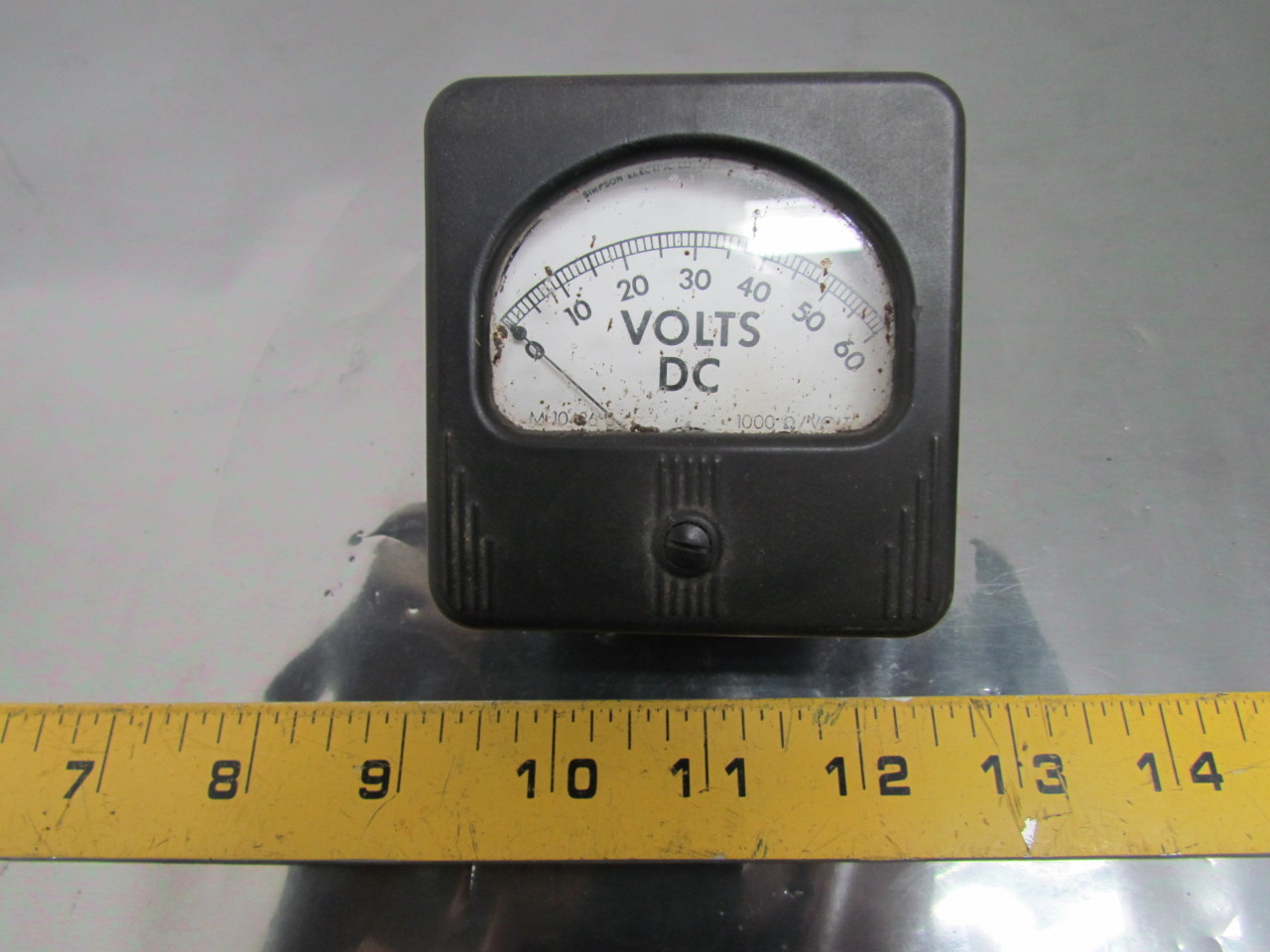 Volt Meters Panel Mount : Simpson m panel mount dc volt meter gauge ebay