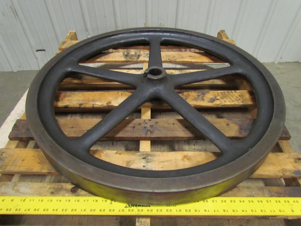 Antique Cast Iron Flywheels : Vintage flywheel flatface cast iron pulley quot w d