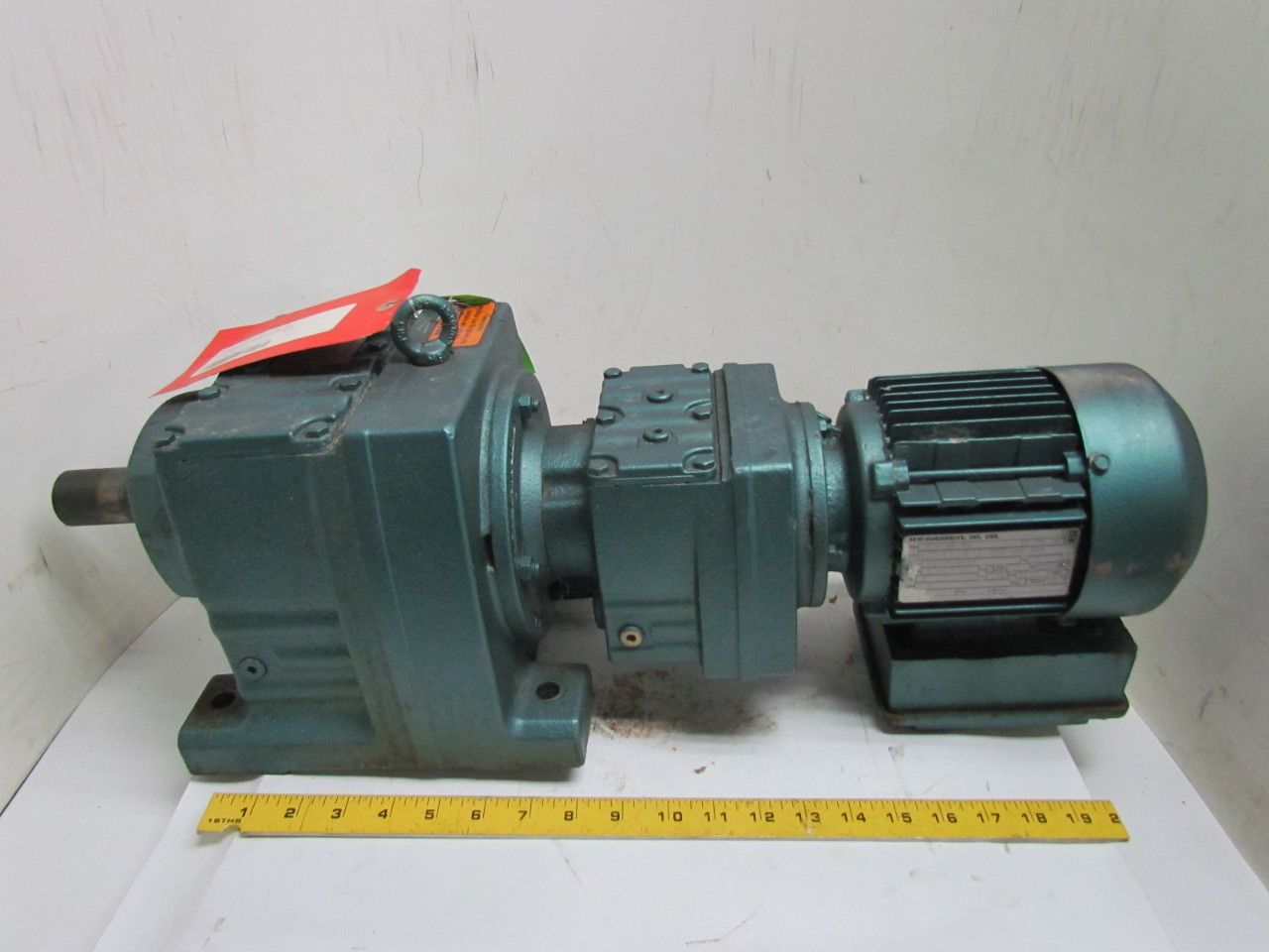 Sew Eurodrive 1 2hp Double Reduction Motor Gearbox Speed