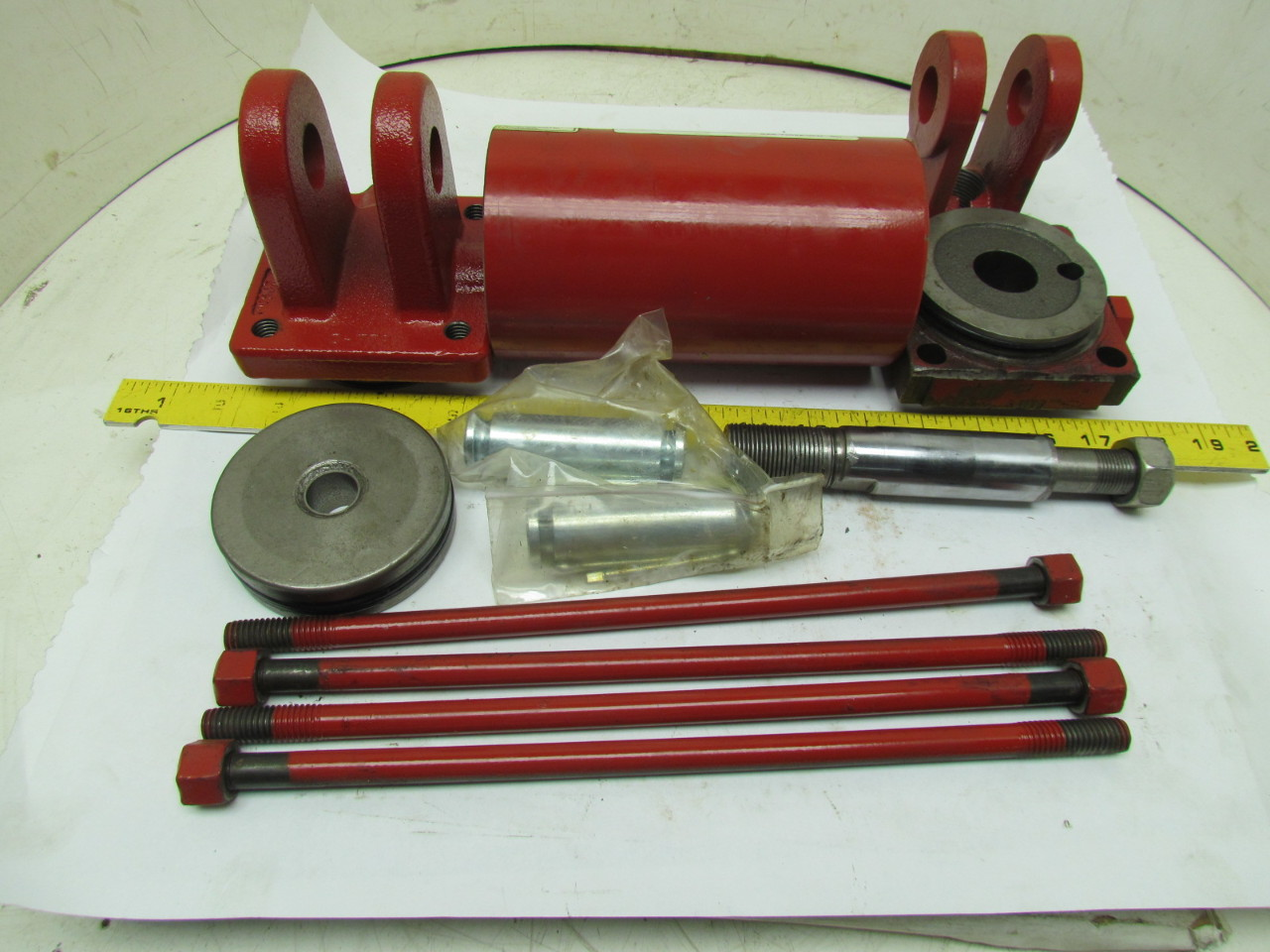 Hydraulic Cylinder Parts : Prince z hydraulic cylinder quot bore disassembled