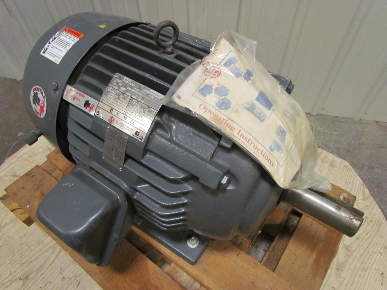 Us Electric Hostile Duty Tefc 286t Frame 30 Hp 1750rpm 3