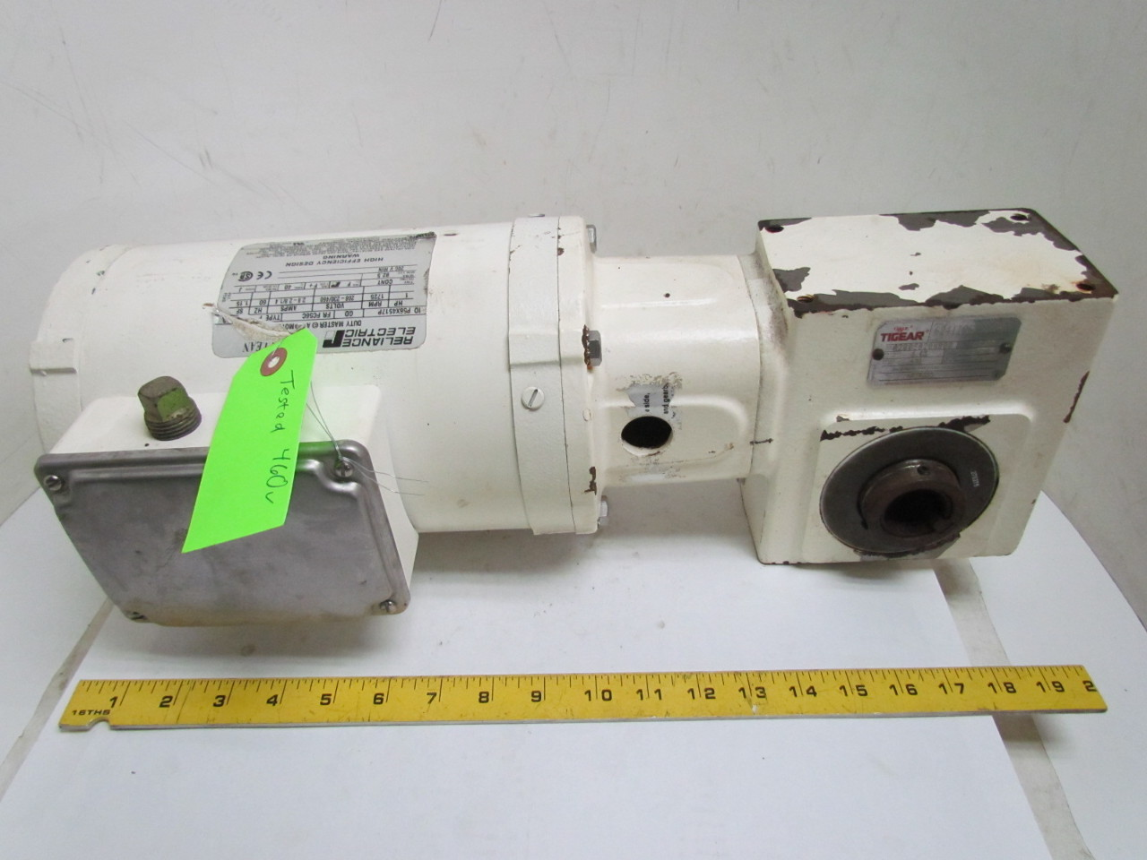 Dodge reliance gearbox speed reducer 20 1 ratio 56c 3ph for Speed reducers for electric motors